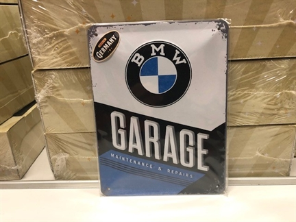 Blik bord BMW Garage